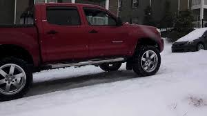 4wd Vs 2wd In The Snow With Toyota Tacoma Youtube Inside Astounding ...