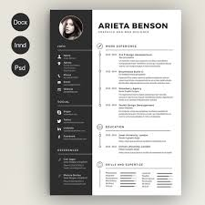 A Clean CV Resume Template With Cover Letter Is Available As CS5 InDesign Files INDD CS4 IDML Microsoft Word DOCX