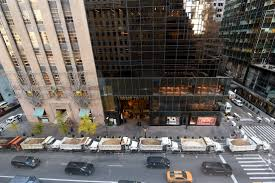 100 Landmark International Trucks Donald Trump New Security Measures At Trump Tower Fortune