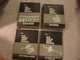 100 Big Truck Repair 1976 Ford Shop Manual 5 Volume Set Pickup Van Bronco