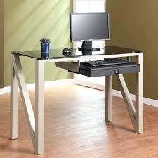 desk small glass top computer desk glass office desk ideas using