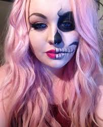 Halloween Half Mask Makeup by Half Skull Makeup Beauty Pinterest Half Skull Makeup Half