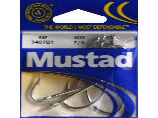 Mustad 3407dt7/0-28 O'shaughnessy Duratin Fishing Hook - Size 7/0, 5pk