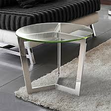 table bout de canapé bout de canapé en verre transparent sur cdc design