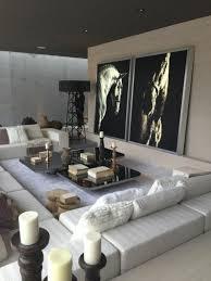 design wohnzimmer modern dekoration mit kerzen luxury