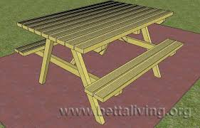 chair and other free access 8 ft picnic table with benches plans