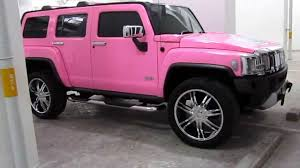 Glossy Pink Hummer H3 by Tony Wrap