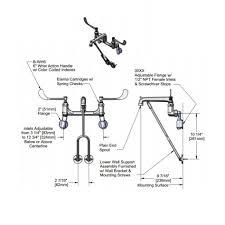 regency wall mounted mop sink faucet with vacuum breaker image