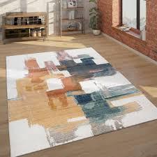 teppich abstraktes design 3 d look wohnzimmer
