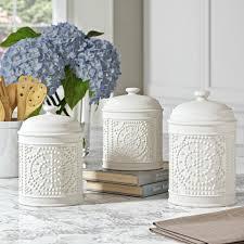 Ceramic Kitchen Canister Sets Decorative Farmhouse Style Kitchen Canister Sets Reviews