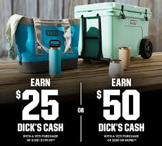 Earn Dick's Cash On YETI Purchases At Dick's Sporting Goods ... Coupons For Dickssportinggoods In Store Printable 2016 89 Additional Inperson Basesoftballteerookie Ball Officemax Coupon Codes Blog Printable Home Depot Coupons 2018 Dover Coupon Codes Beautyjoint Code November Crate And Barrel Promo Singapore Owlcrate 2019 For Hibbett Sporting Goods Tokyo Express Vitaminlife Dicks 5 Best Sporting Goods Promo Sep Raider Image Free Shipping Wwwechemistcouk Add A Fitness Tracker In The App