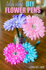 DIY Ribbon Flower Pens