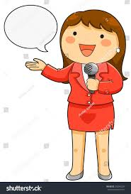 Cartoon News Reporter With Microphone Royalty Free Vector