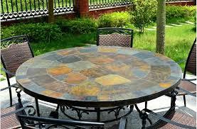 table ronde de jardin metal 125 160 en mosaaque dardoise oceane