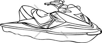 jet ski clipart and vectorart