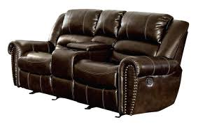 leather reclining bonded sectional recliners chaise recliner power