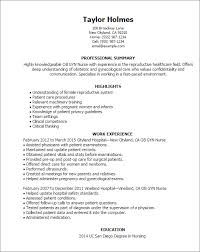 Resume Templates Ob Gyn Nurse
