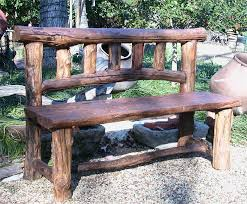Innovative Rustic Wood Outdoor Furniture Benches Intended For