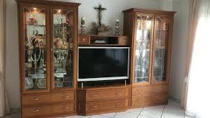 ital echtholz kirschbaum möbel wohnzimmer schrankwand vitrinen