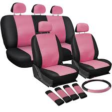 OxGord Faux Leather Car Seat Covers 17pc Set W/Steering Wheel/Belt ... Dodge Ram Pickup Seat Covers Unique 1500 Leather Truck Seat Covers Lvo Fh4 Black Eco Leather For Jeep Wrangler Truck Leatherlite Series Custom Fit Fia Inc Auto Upholstery Convertible Tops Mccoys New York Ny By Clazzio Man Tga Katzkin Vs 20pc Faux Gray Black Set Heavy Duty Rubber Diamond Front Cover Masque Luxury Supports Car Microfiber
