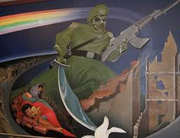 Denver Airport Murals Conspiracy Debunked by Lounging Pass August 2011