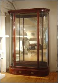 furniture wonderful glass display cabinet with lock glass