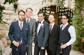 Non Matching Wedding Party Suits