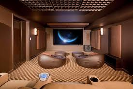 Open Space Projector Room With Bean Bag Chairs