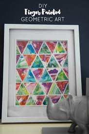 Toddler Finger Paint Geometric Art Diy Via Honest To Nod