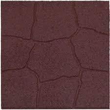 Maroon Solids Rubber Floor