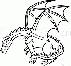 Minecraft Dragon Coloring Pages Printable In Www