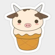 Kawaii Cute Cow Ice Cream T Shirt