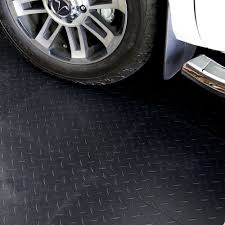 Garage Rubber Floor Tiles Flexible PVC 18 X 1 4