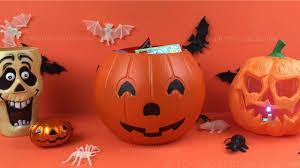Spongebob Pumpkin Carving by Halloween Pumpkin Surprise Basket Toys Opening Minnie Mouse