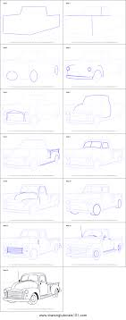 100 How To Draw A Truck Step By Step To A GMC Pickup Printable Step By Step Drawing Sheet