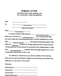 Demand Letter For Payment