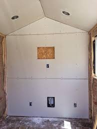 Hanging Drywall On Ceiling by World Of Technology Backyard Home Office Build 43 Pics