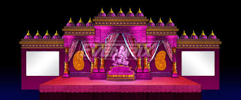 Wedding Reception Global 2D Set Design Executed Stage