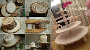 Rustic Tree Trunk Wedding Cake Stand By Laurie Cinnotto Via Once Wed Left And