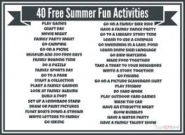 40 Summer Fun Activities 600x438