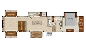 R Pod Floor Plans 2018 by Coachmen Chaparral 2018 381rd Fp Png