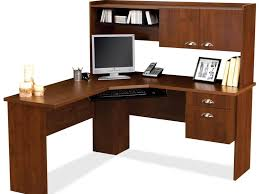 Sauder L Shaped Desk by Office Furniture Wooden Computer Armoire For Big Sized Computer
