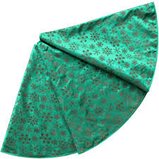 Free Shipping Extra Large 50 Flocking Green Red Color Christmas Tree Skirt Snowflake Design In Skirts From Home Garden On Aliexpress