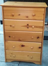 Johnson Carper 6 Drawer Dresser by Uhuru Furniture U0026 Collectibles Sold 5 Drawer Varnish Knotty Pine