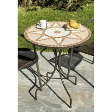 table ronde mosaique fer forge beautiful table de jardin ronde dessus mosaique gallery awesome