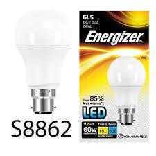2 energizer 9w 60w watt led gls globe bc b22 fitting energy