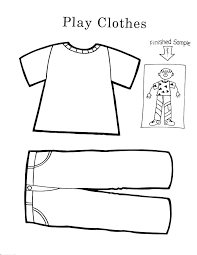 Clothes Coloring Pages Cool K Worksheets For Children Preschool Winter Sheets