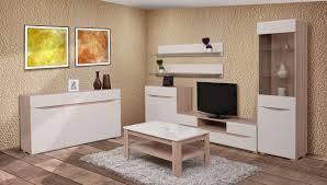 wohnzimmer komplett set a comillas 7 teilig farbe eiche braun creme