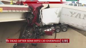 100 Truck Hits Overpass Semi Hits I20 Overpass YouTube
