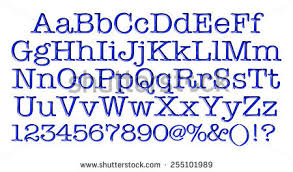 Type Letters Numbers 3d Design Elements Stock Illustration